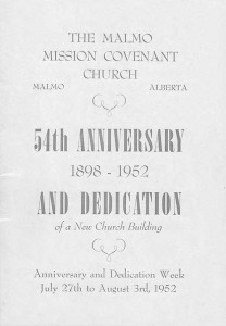 54 Anniversary at Malmo Mission Covenant Church